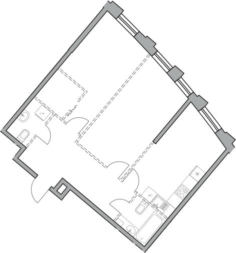 Своб. план., 68.79 м², 28 этаж