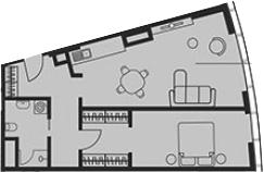 Свободная планировка, 61.02 м²– 2