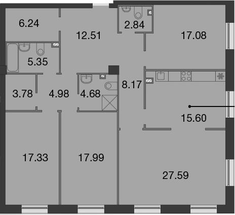 5Е-к.кв, 144.14 м²