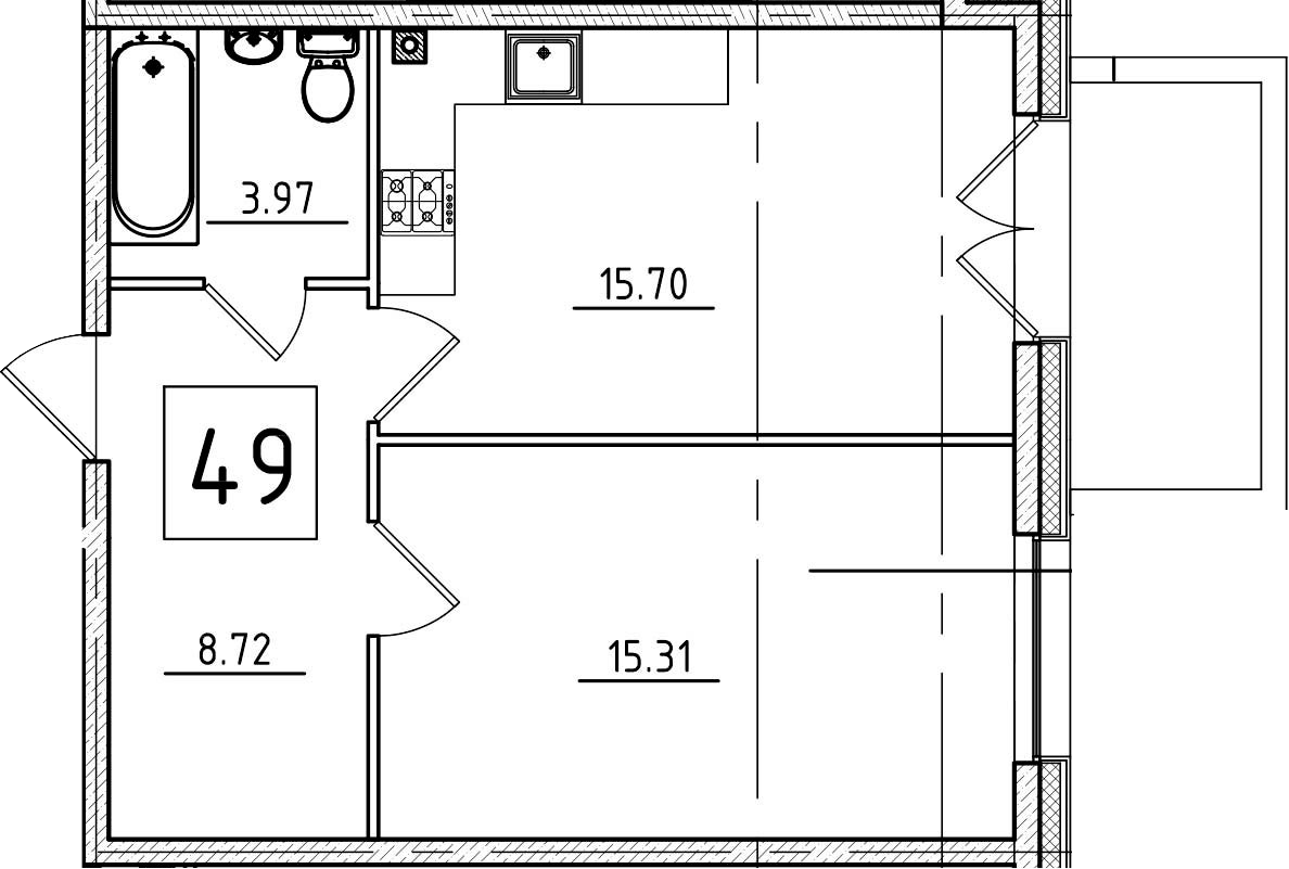 2Е-к.кв, 45.14 м²