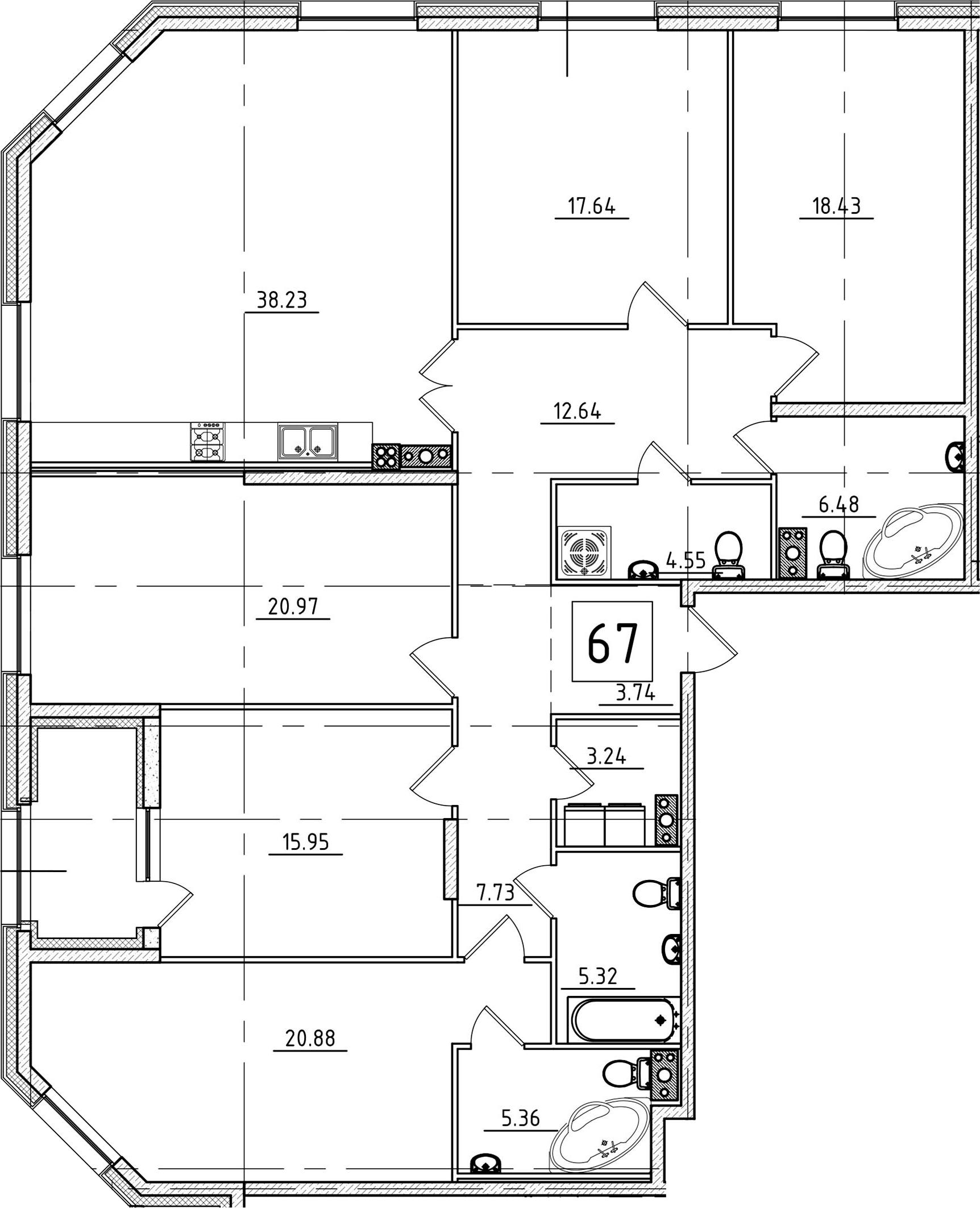 5-комнатная, 183.58 м²– 2