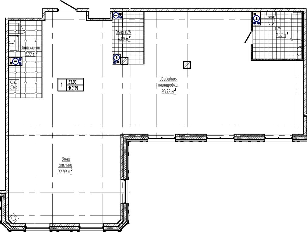 Свободная планировка, 147.39 м²– 2