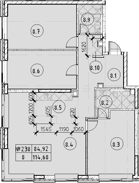 4Е-к.кв, 114.68 м²