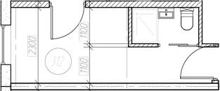 Студия, 13.24 м²