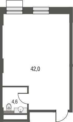 Своб. план., 44.8 м²
