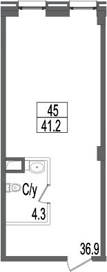 Своб. план., 41.2 м²