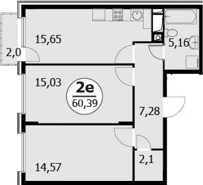 3-к.кв (евро), 61.79 м²