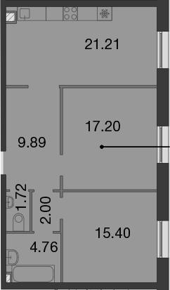 3-к.кв (евро), 72.18 м²