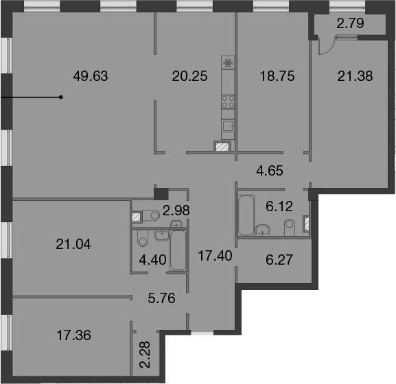 5-комнатная, 199.67 м²– 2