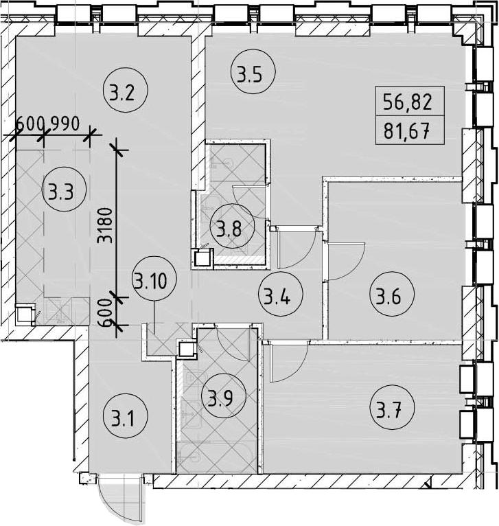 4-к.кв (евро), 81.67 м²