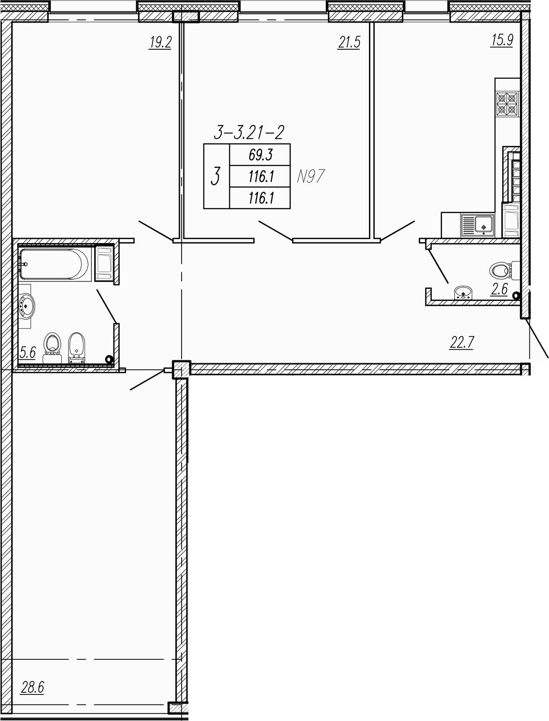 4Е-к.кв, 116.1 м²