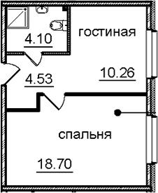 1-к.кв, 37.59 м²