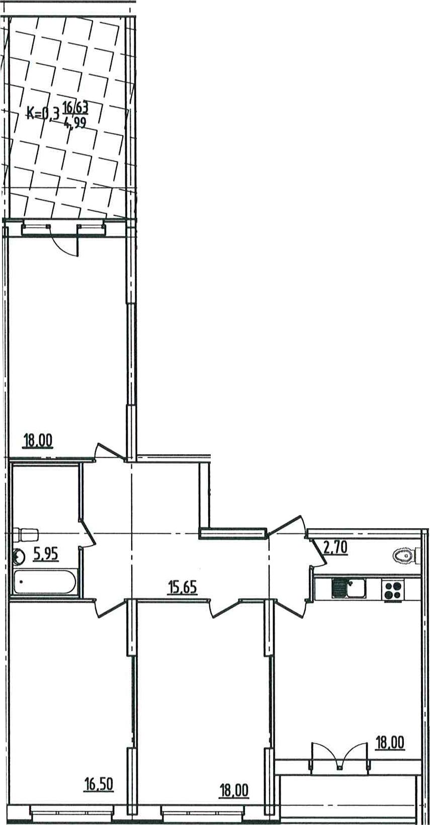 4-к.кв (евро), 115.39 м²