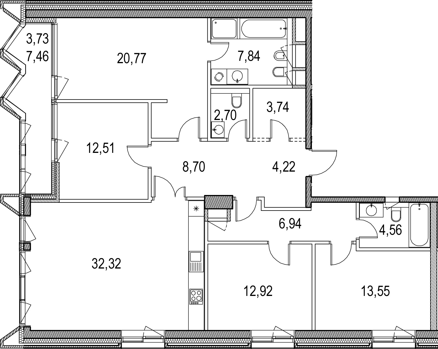 5Е-к.кв, 134.5 м²