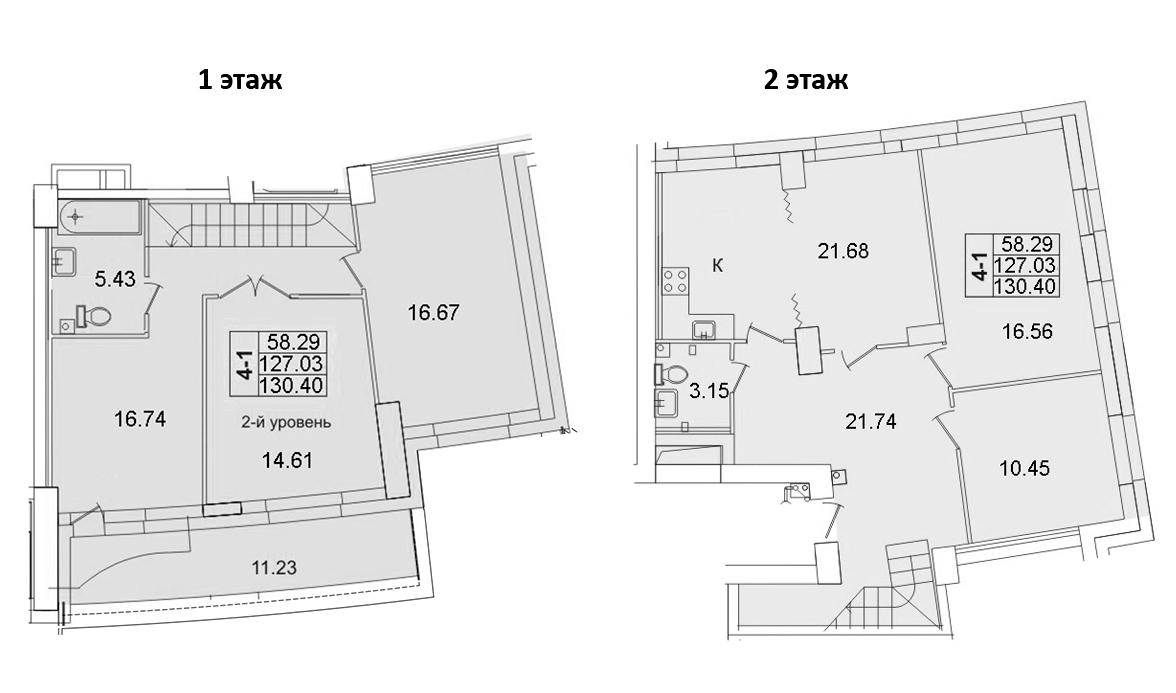 5-комнатная, 130.4 м²– 2