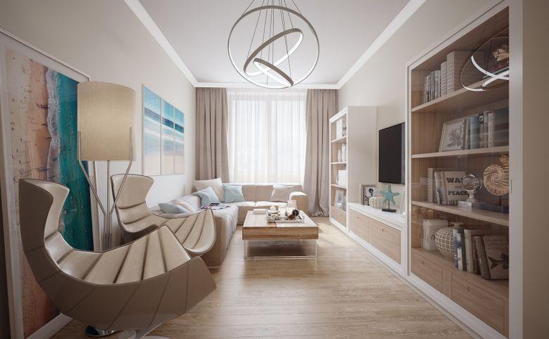 3Е-комнатная квартира, 57.7 м², 6 этаж – 1