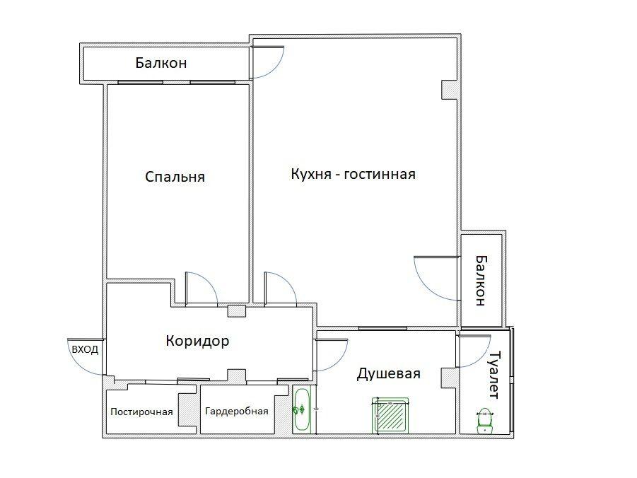 2Е-к.кв, 93.01 м²