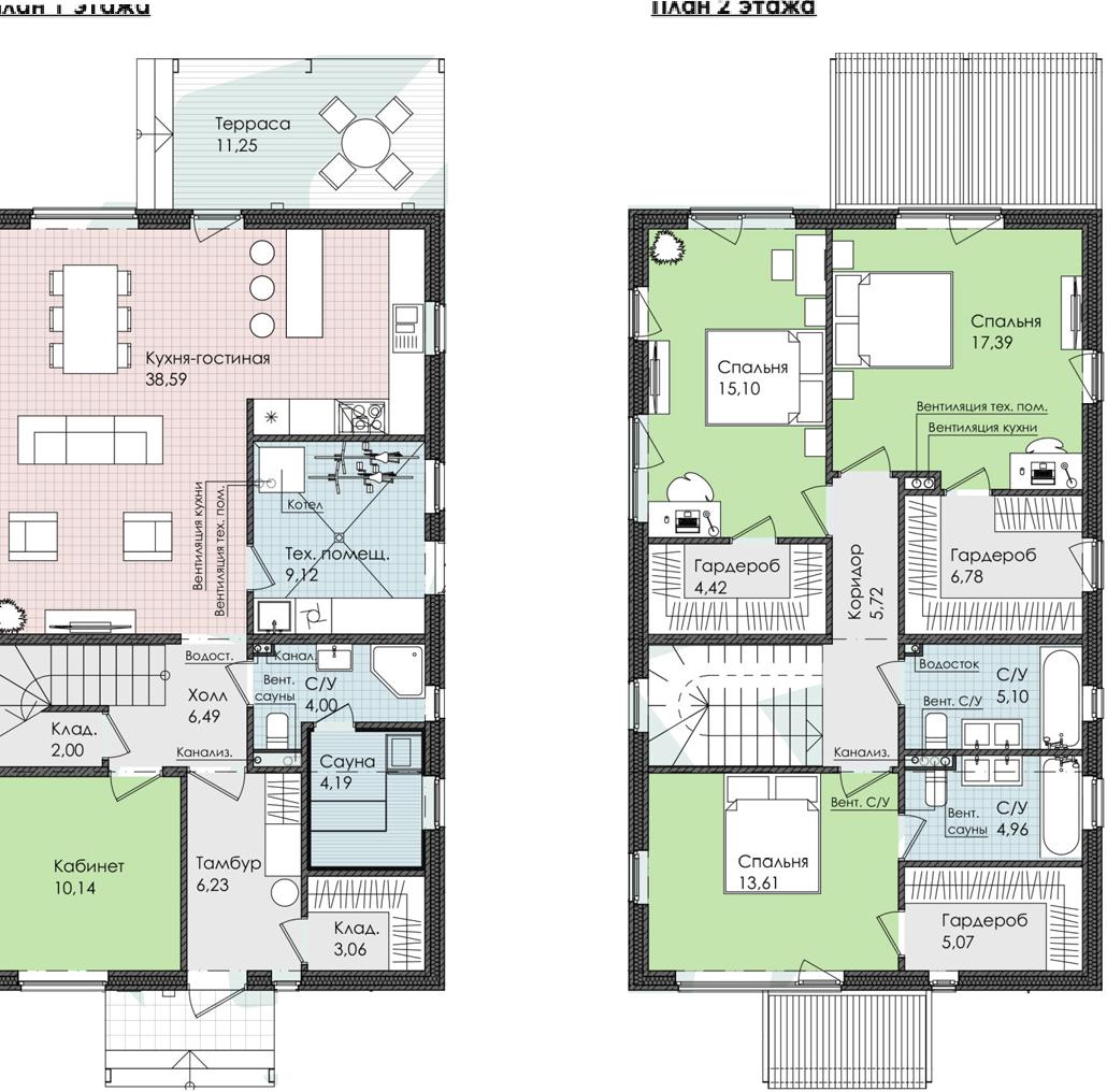 Коттедж, 173.22 м², 1 этаж