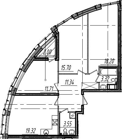 4Е-к.кв, 84.14 м², от 13 этажа
