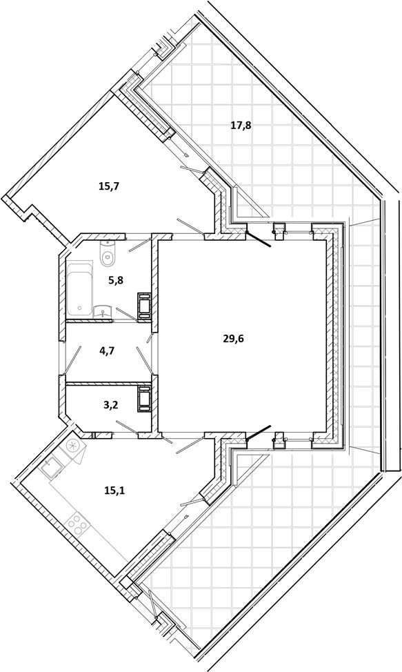 3-к.кв (евро), 133.43 м²