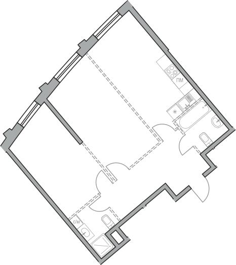 Свободная планировка, 68.37 м²– 2