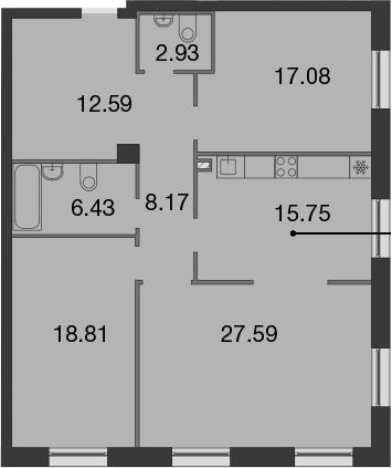 4-к.кв (евро), 109.35 м²
