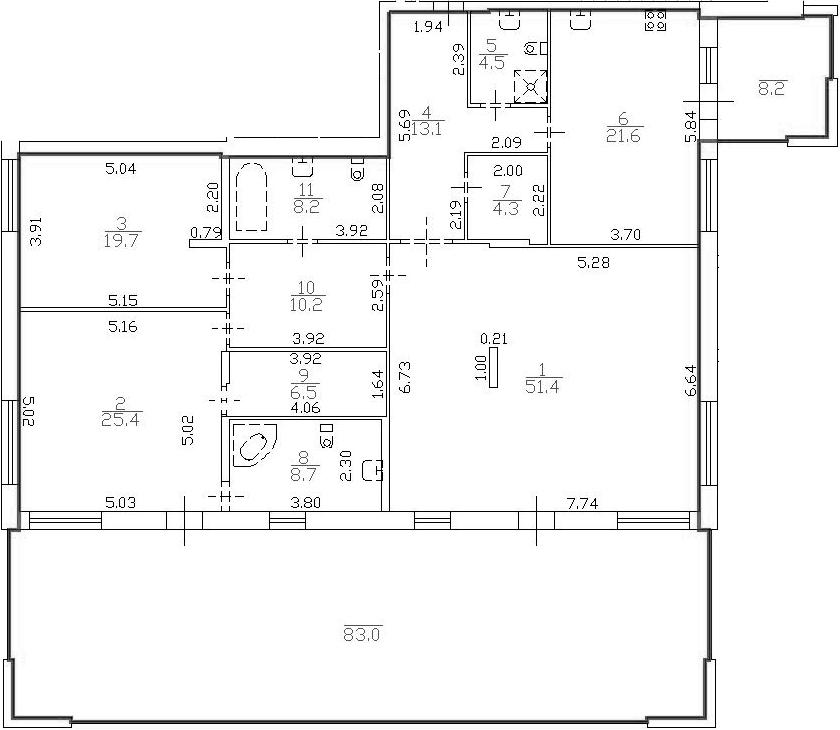 4Е-комнатная, 200.96 м²– 2