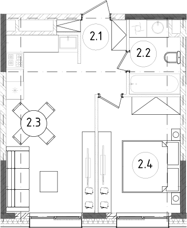 2Е-к.кв, 37.74 м²