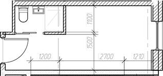 Студия, 15.85 м²– 2