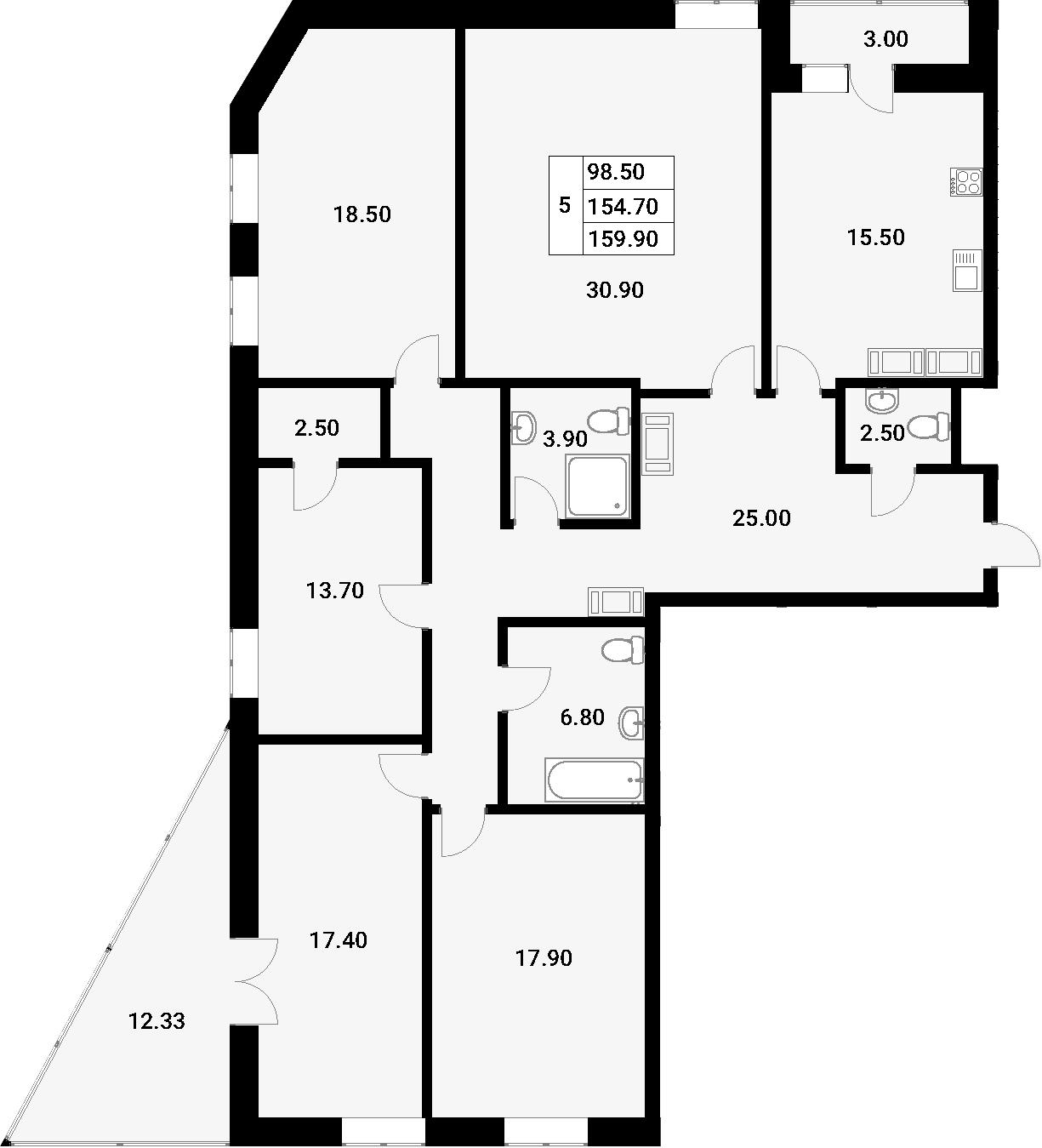 5-к.кв, 170.03 м²