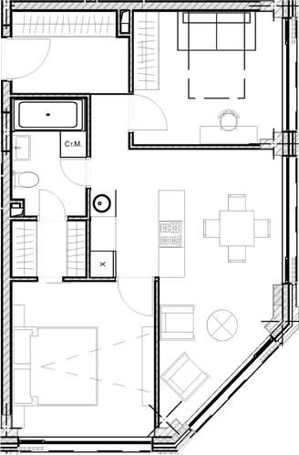 Свободная планировка, 55.08 м²– 2