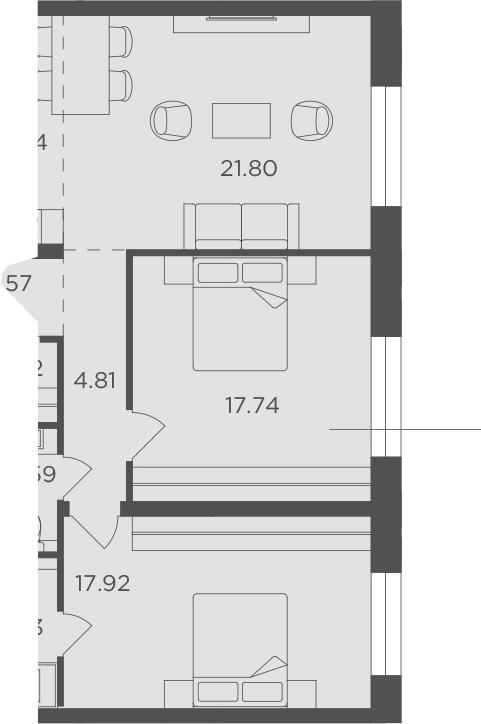 3Е-к.кв, 83.02 м², 5 этаж