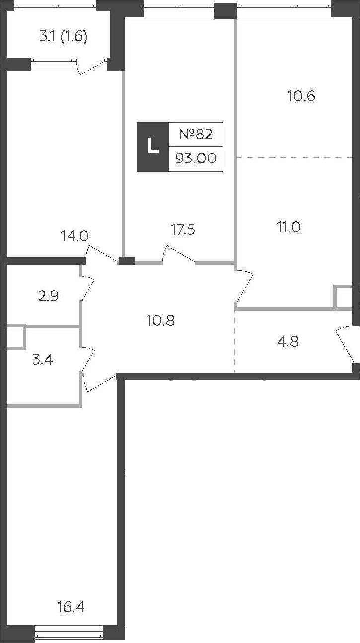 4-к.кв (евро), 94.55 м²