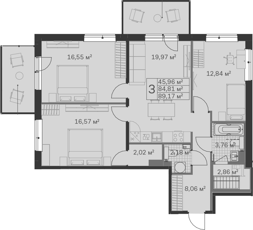 4-к.кв (евро), 99.35 м²