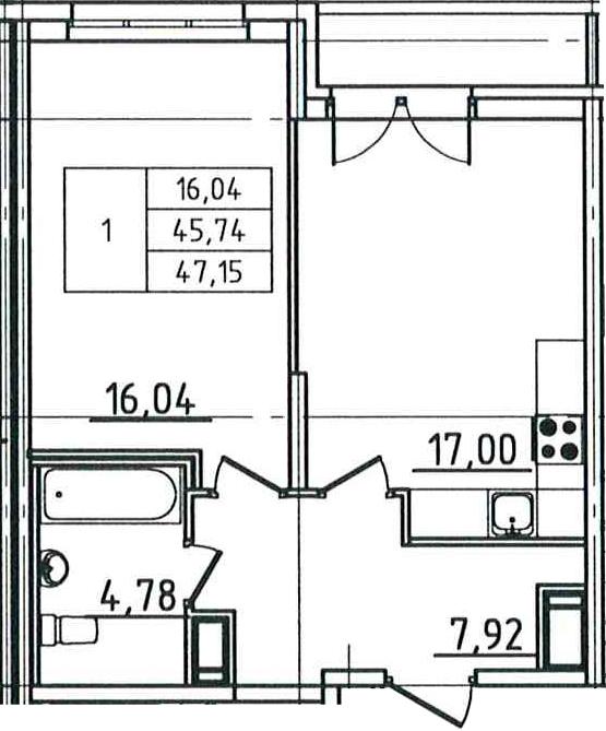 2Е-к.кв, 47.15 м²