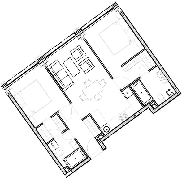 Свободная планировка, 59.54 м²– 2