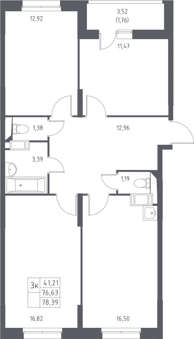 4-к.кв (евро), 80.15 м²