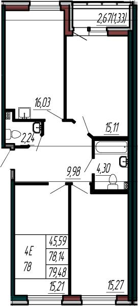 4-к.кв (евро), 80.81 м²