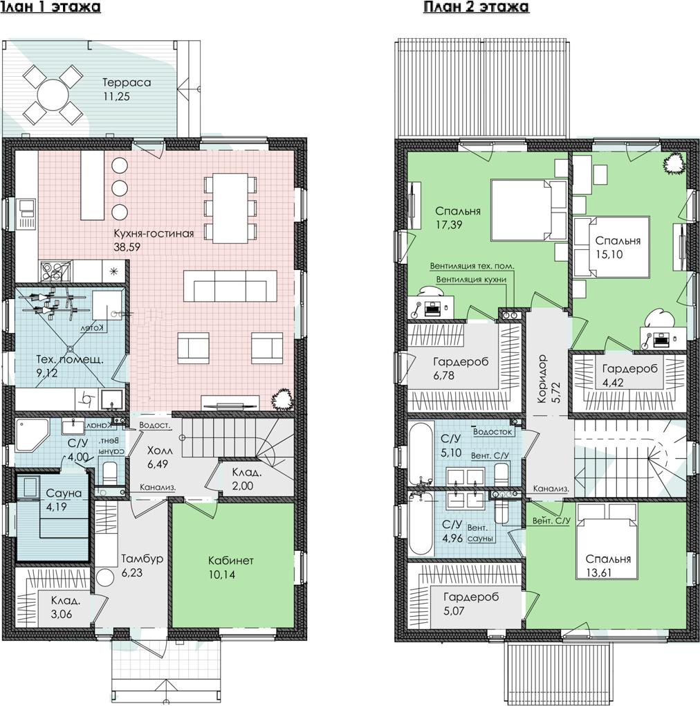 Коттедж, 173.22 м²– 2