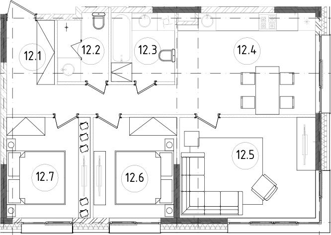 4Е-к.кв, 68.49 м²