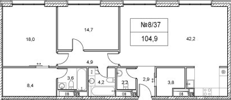 4Е-к.кв, 104.9 м²