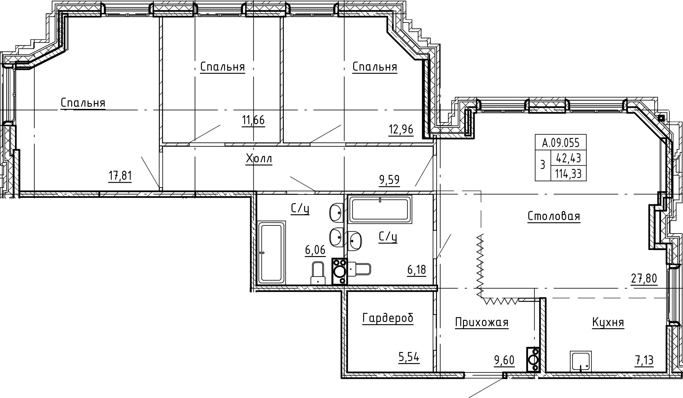 4Е-к.кв, 114.33 м²