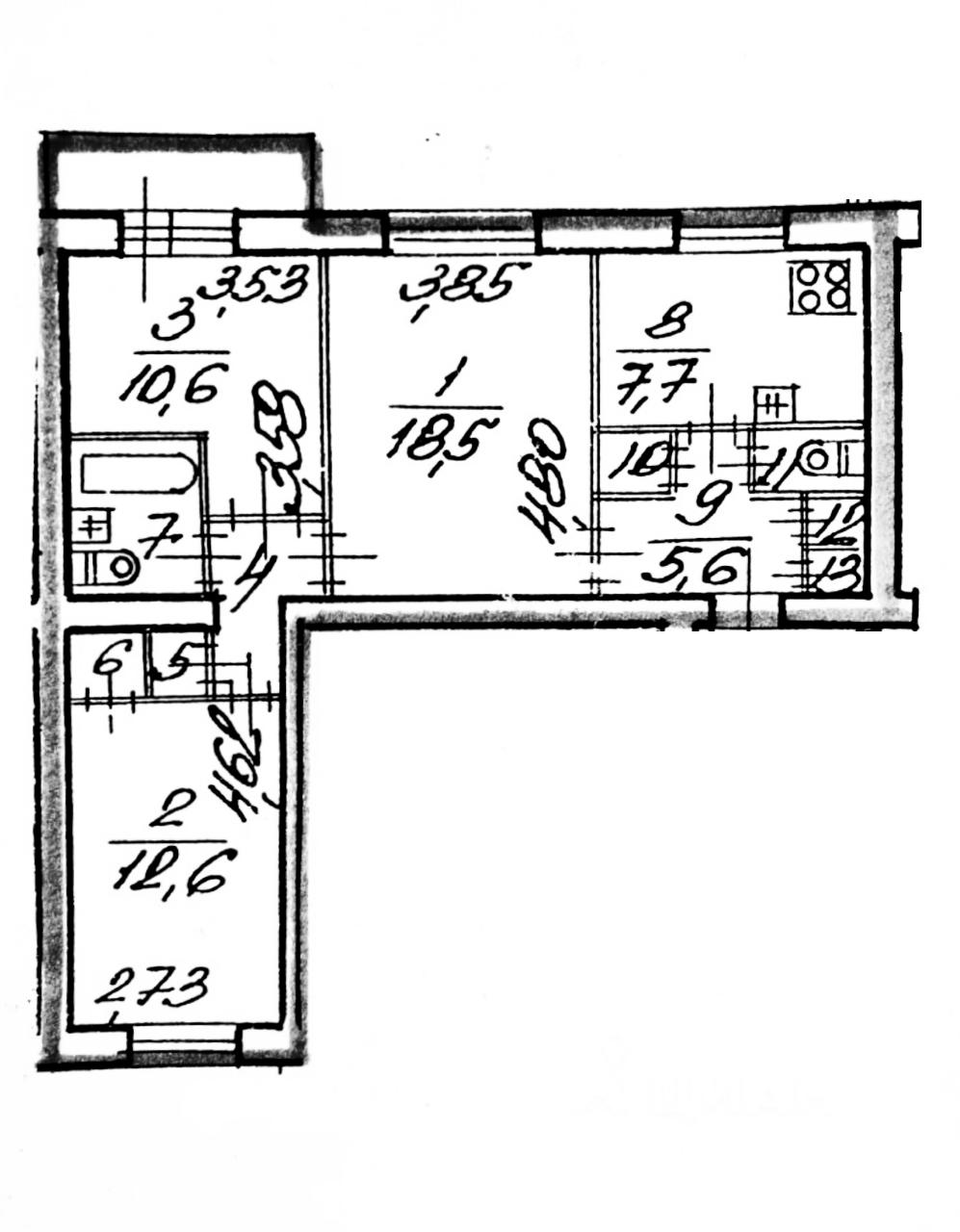 3-к.кв, 66.2 м²