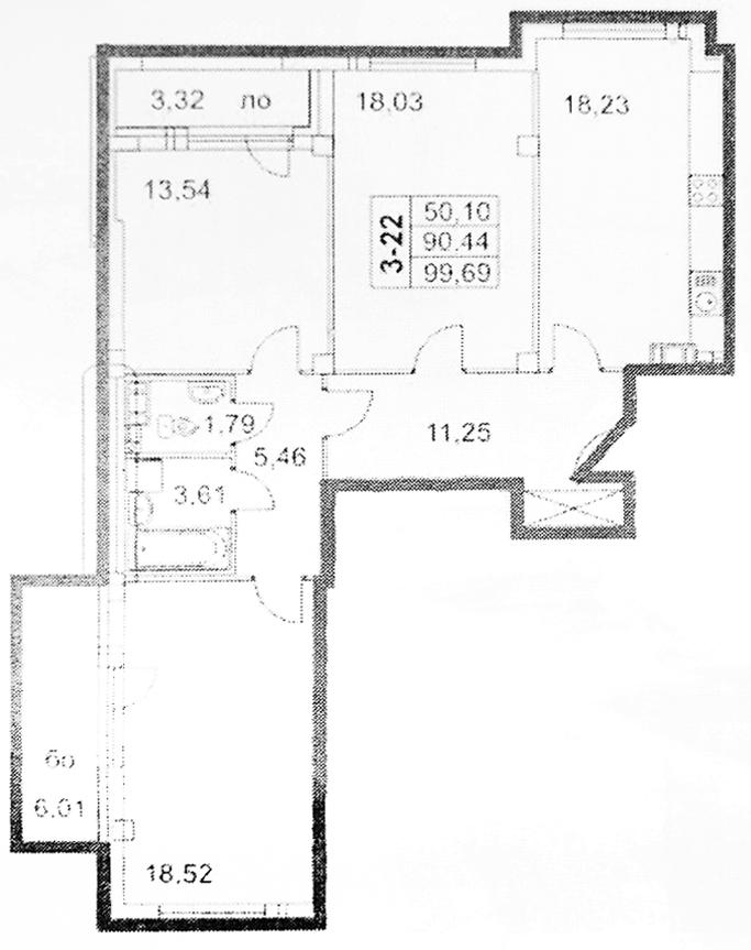 4Е-к.кв, 97.88 м²