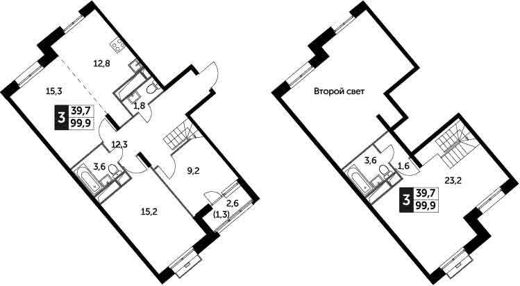 4Е-комнатная, 99.9 м²– 2