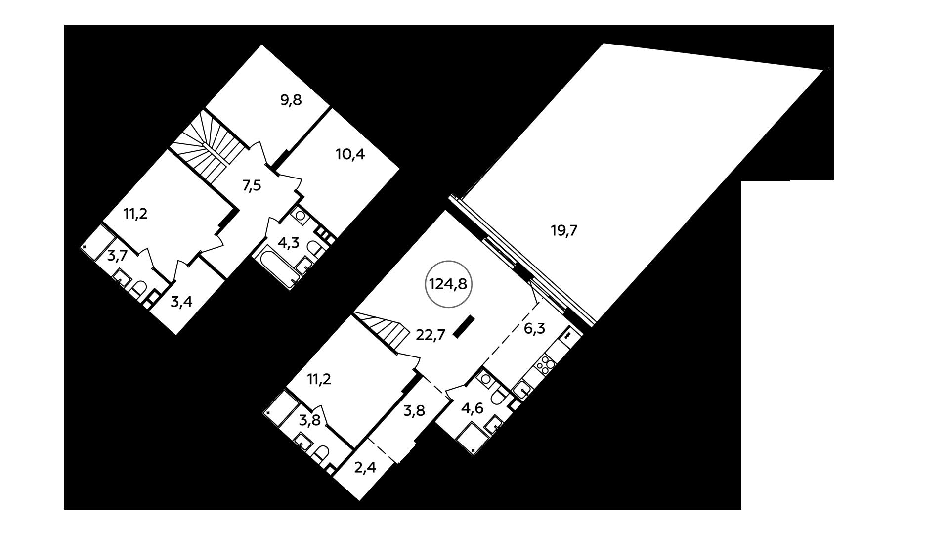 5Е-к.кв, 124.8 м²