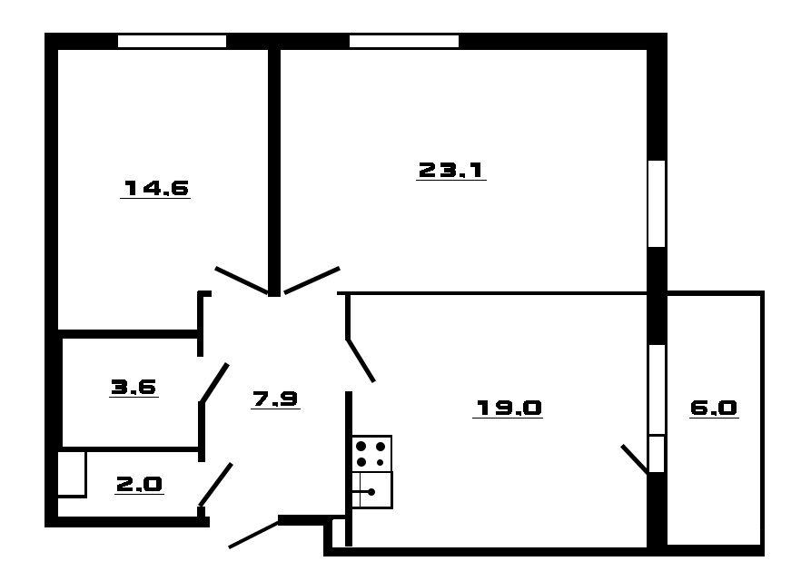 3-к.кв (евро), 76.2 м²