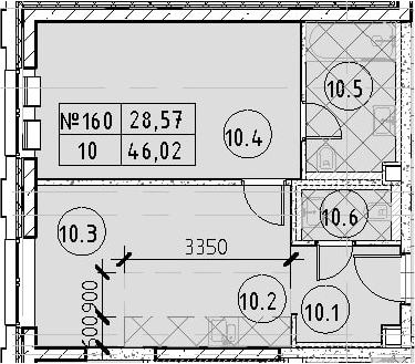 2Е-к.кв, 46.02 м²