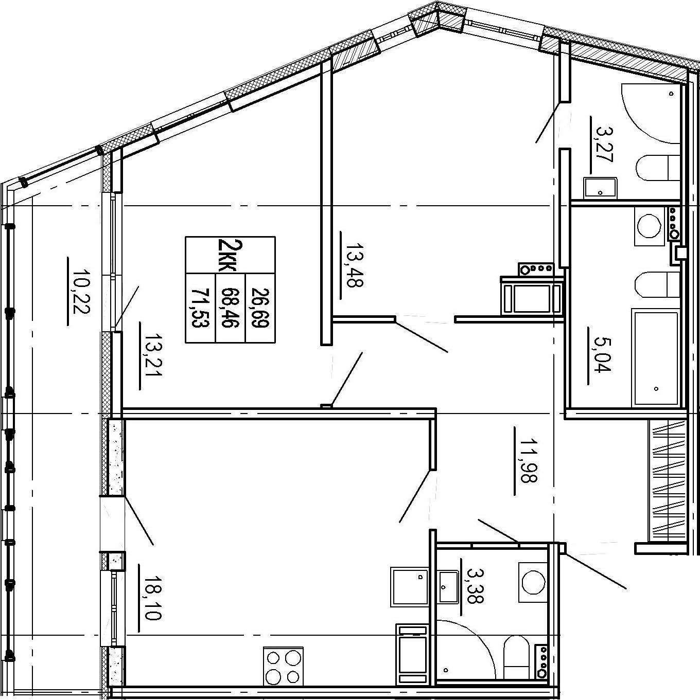 3Е-к.кв, 68.46 м²