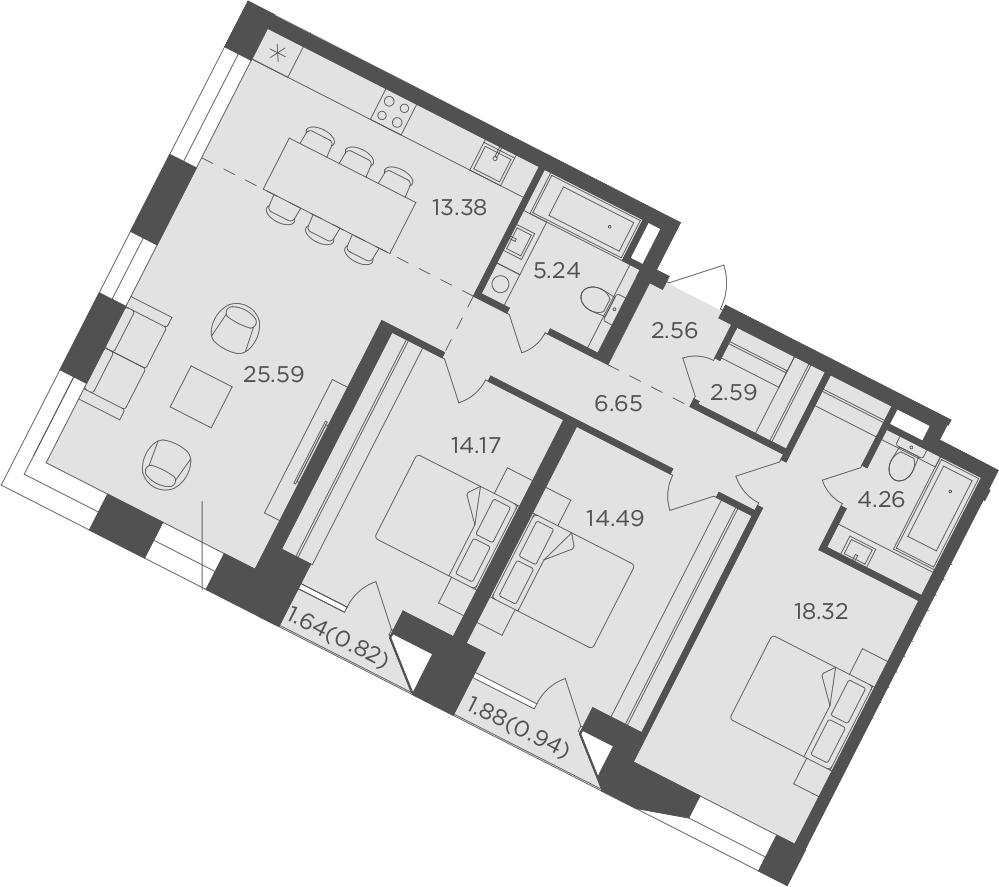 4Е-к.кв, 109.01 м², 10 этаж